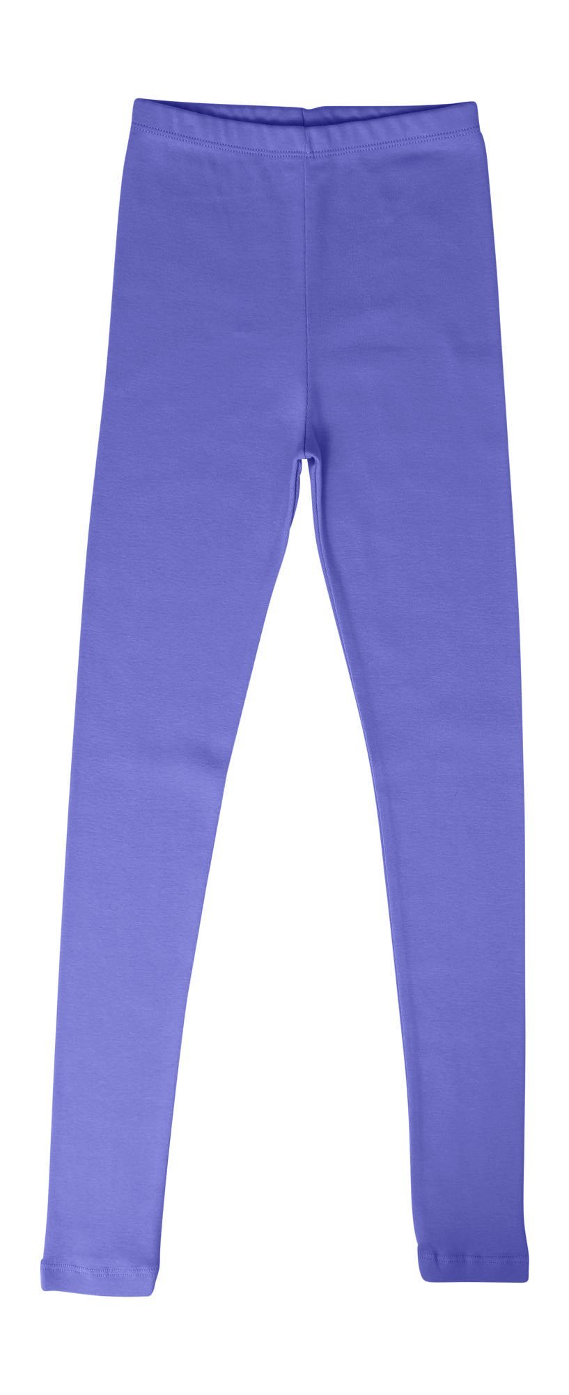 CAOMP Girls'%100 Organic Cotton Leggings for School or Play (5-6, Purple)