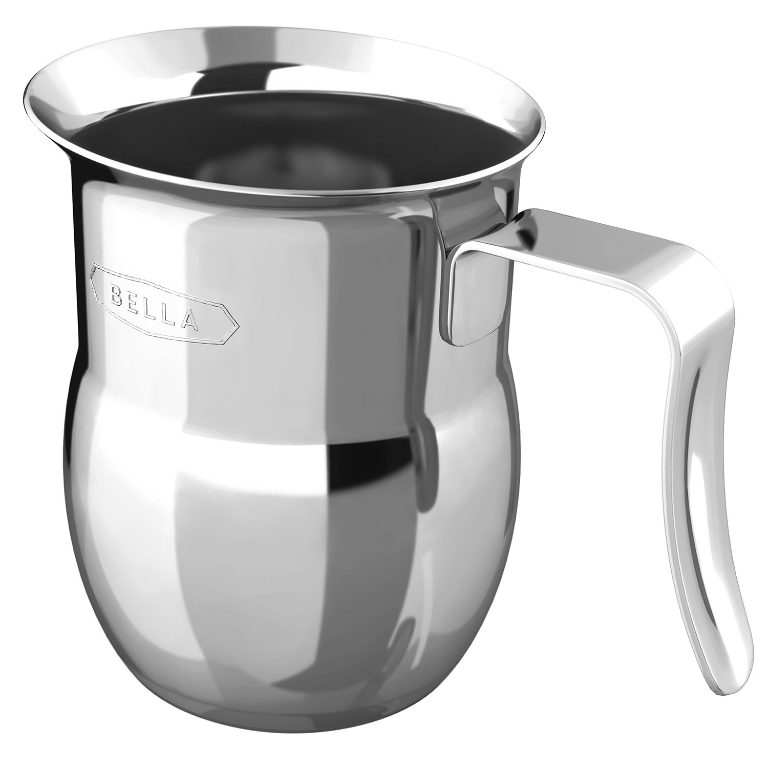 amazoncom bella  frothing pitcher stainless steel  - amazoncom bella  frothing pitcher stainless steel electric milkfrothers kitchen  dining