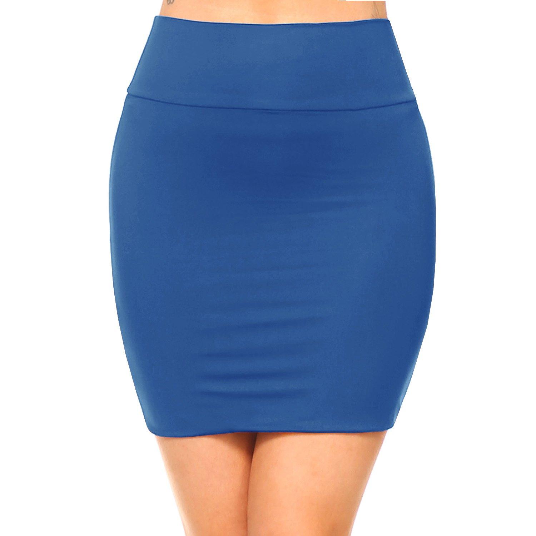 Fashionazzle SKIRT レディース B07CSH8XY1 Medium|Ks06-blue/Spandex Ks06-blue/Spandex Medium, Fleur Town 吉本花城園 014c780f