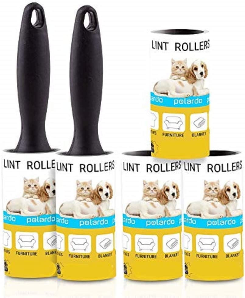 Lint Rollers for Pet Hair, Sticky, Remover for Couch, Clothes Furniture and Carpet. Lint Roller Dog Hair Remover Cat Hair, Animal Hair, Pet Fur, Fuzz. 5 Large Pet Hair Lint Rollers
