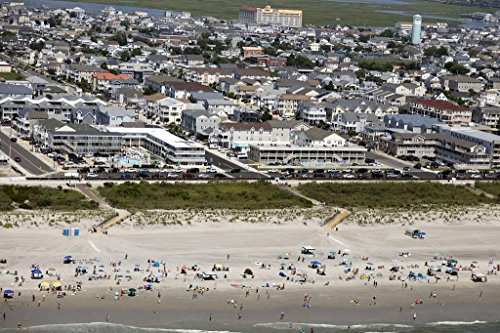 historic pictoric Photograph| Beaches and boardwalk on the New Jersey shore in Wildwood, New Jersey 3 Fine Art Photo Reproduction 66in x 44in -