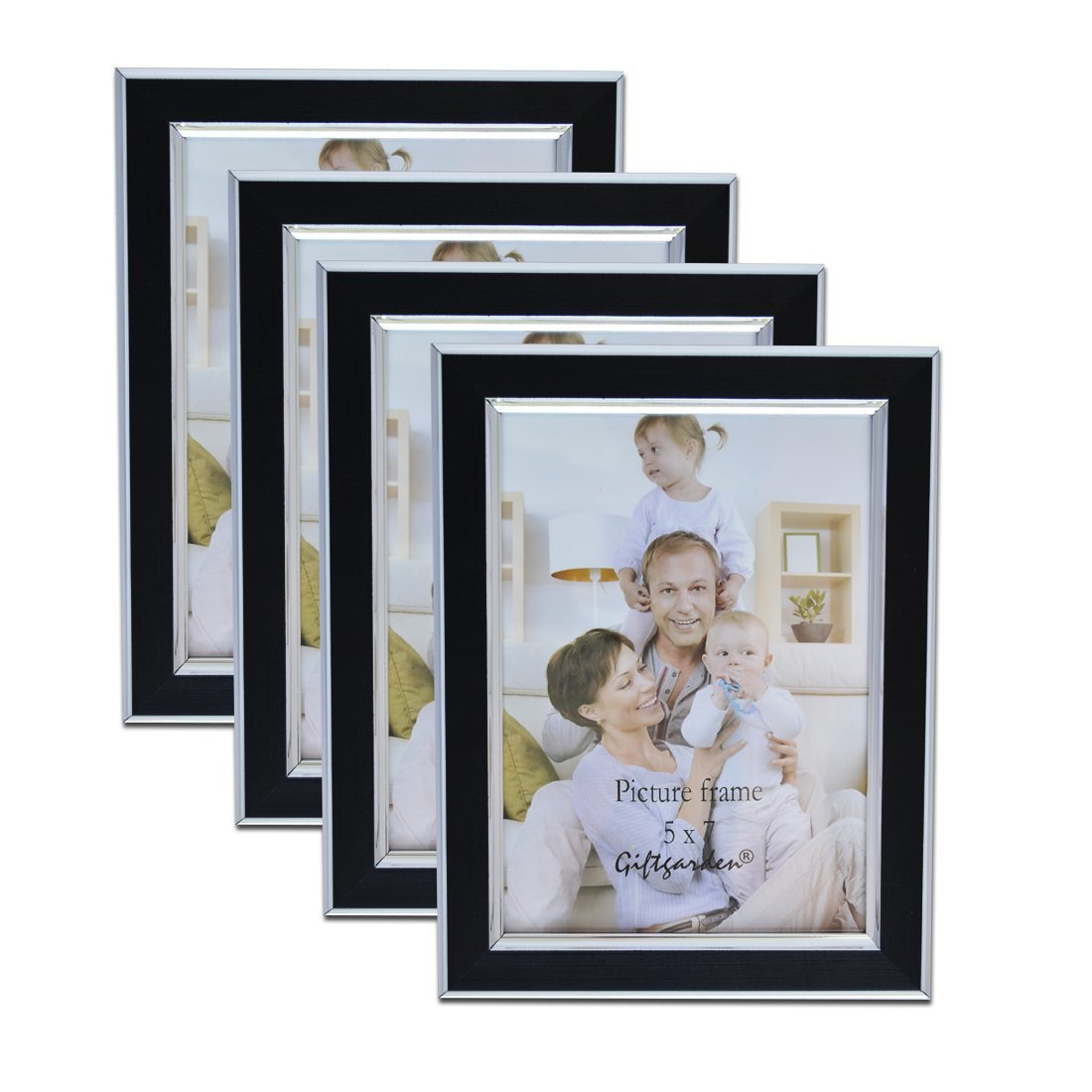 Giftgarden Photo Frames 10x8 Black Wall Mounting and Freestanding, Glass Front, Set of 2 PCS Sainthood C170405