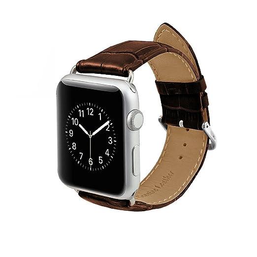 17 opinioni per MPTECK ® sostituzione 42 mm Marrone pelle Watch Cinturino per intelligente