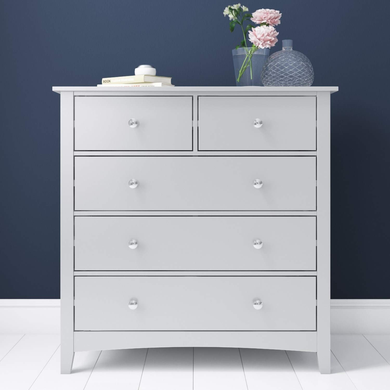 Finch 2 3 Chest Of Drawers In Light Grey Amazon Co Uk Kitchen Home