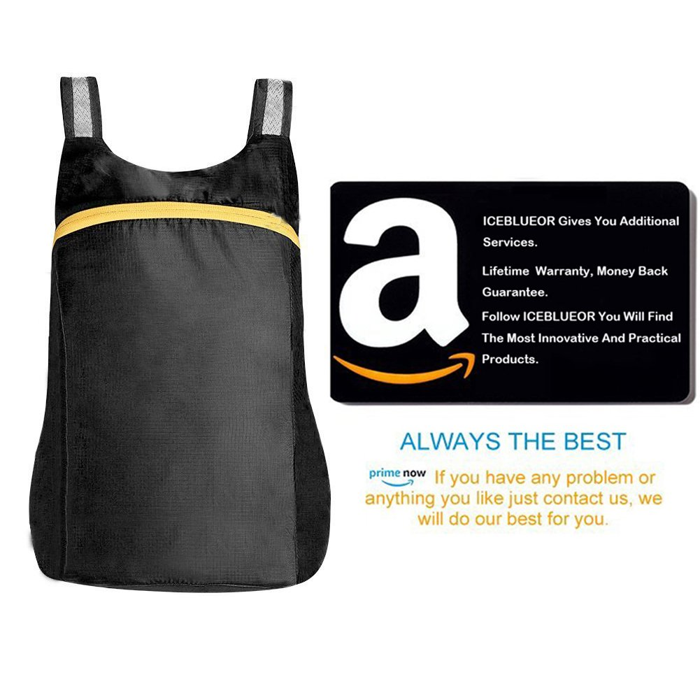 iceblueor ultraligero viajes senderismo mochila 18L mochila de nylon impermeable plegable mochila ideal para camping//Escalada//Ciclismo//Senderismo mochila