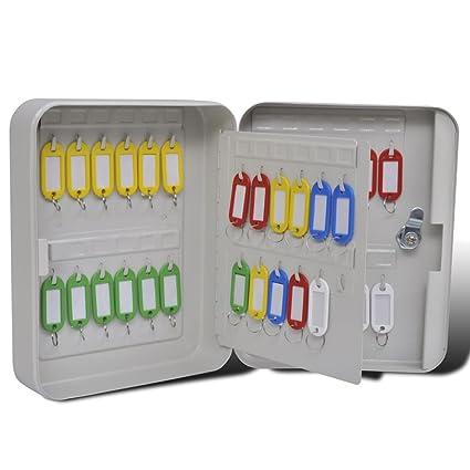 vidaXL Caja Para Llaves Con 48 Llaveros Clave Seguridad Bloqueo Hotel Tienda Hogar