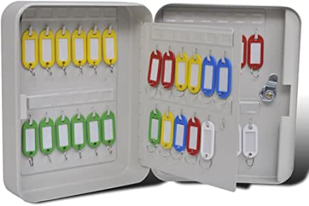 vidaXL Caja Para Llaves Con 48 Llaveros Clave Seguridad Bloqueo Hotel Tienda Hogar: Amazon.es: Bricolaje y herramientas