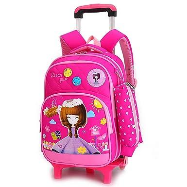 Amazon.com: Mochila enrollable para niños con ruedas, maleta ...