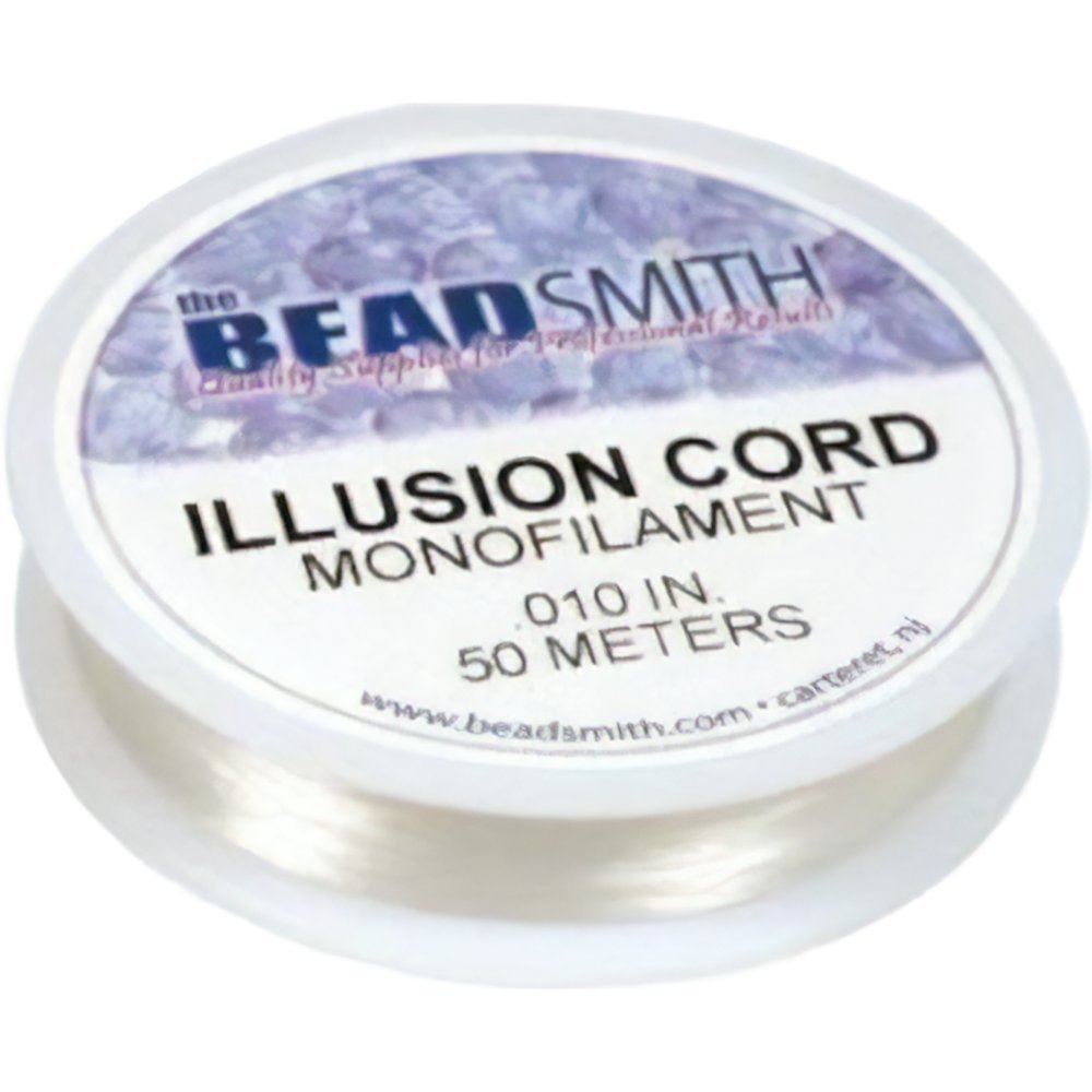 Beadsmith Illusion Monofilament Bead Cord .010 in 6 lb 164ft, 2 Pack Beadmsith