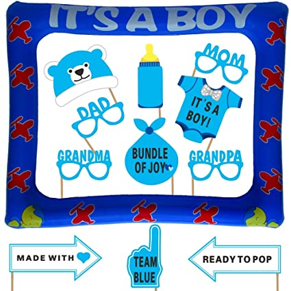 Amazon Com Baby Shower Photo Booth Props With Inflatable Picture