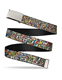 Where's Waldo Children's Book Series Crowded Artists Web Belt