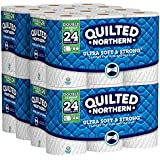 Quilted Northern Ultra Soft & Strong Toilet Paper with CleanStretch, 48 Double Rolls, Equivalent to 96 Regular Rolls, (8 Pack of 12 Rolls)