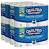 Health & Personal Care : Quilted Northern Ultra Soft & Strong Toilet Paper with CleanStretch, 48 Double Rolls, Equivalent to 96 Regular Rolls, (8 Pack of 12 Rolls)