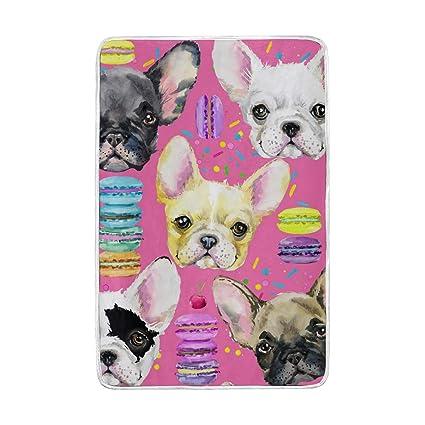 CPYang - Manta de Microfibra Suave y cálida para Cama de Perro Bulldog francés, para
