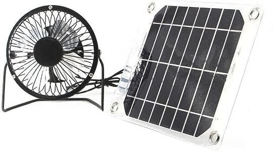 Ventilador solar de 5 W 4 pulgadas de energía libre para ...