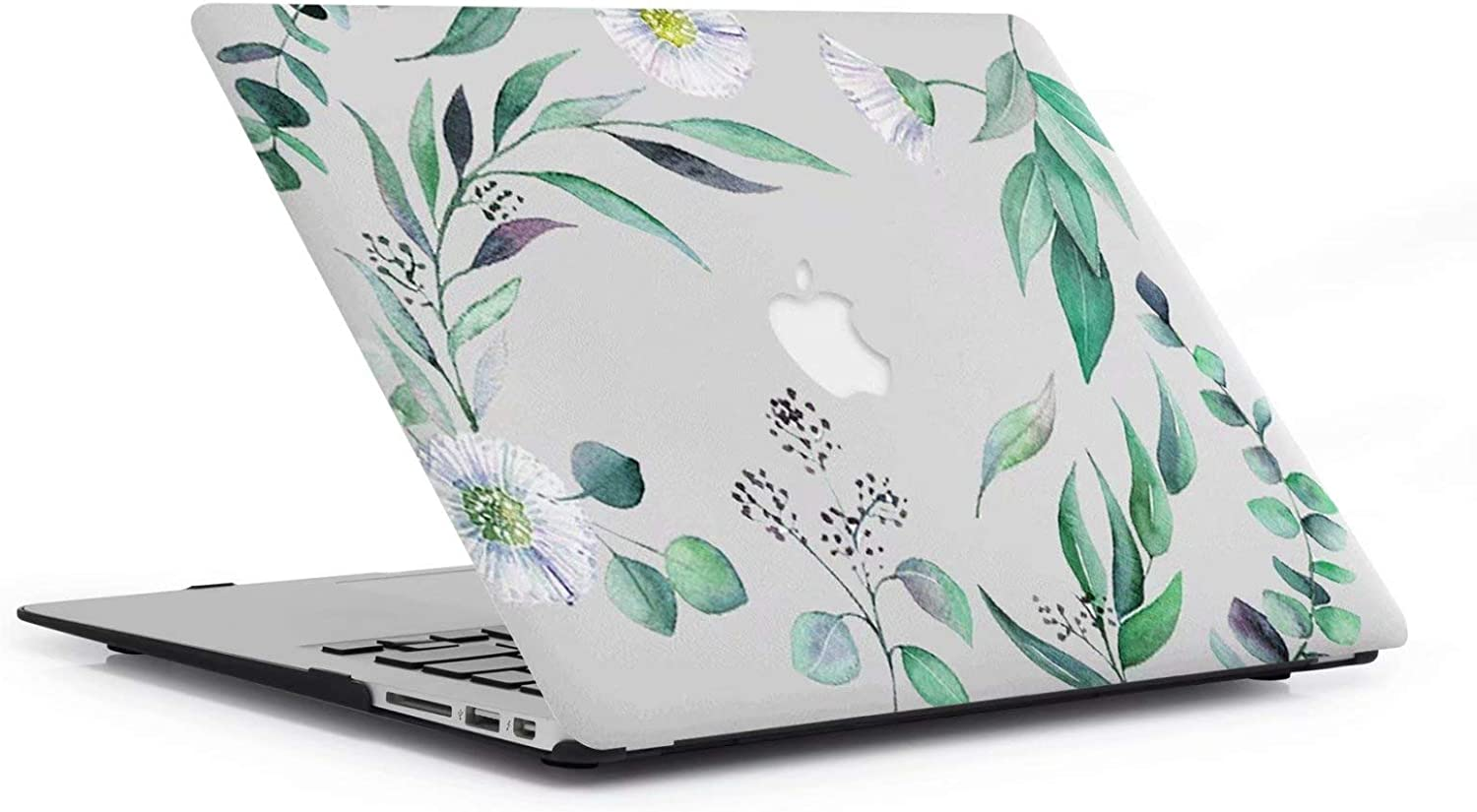 A1369 MacBook Air 13 Case LH-34 green leaf AQYLQ Super Thin Rubberized Coated Laptop Cover Shell Protective for Apple 13 inch MacBook Air 13.3 Model A1466