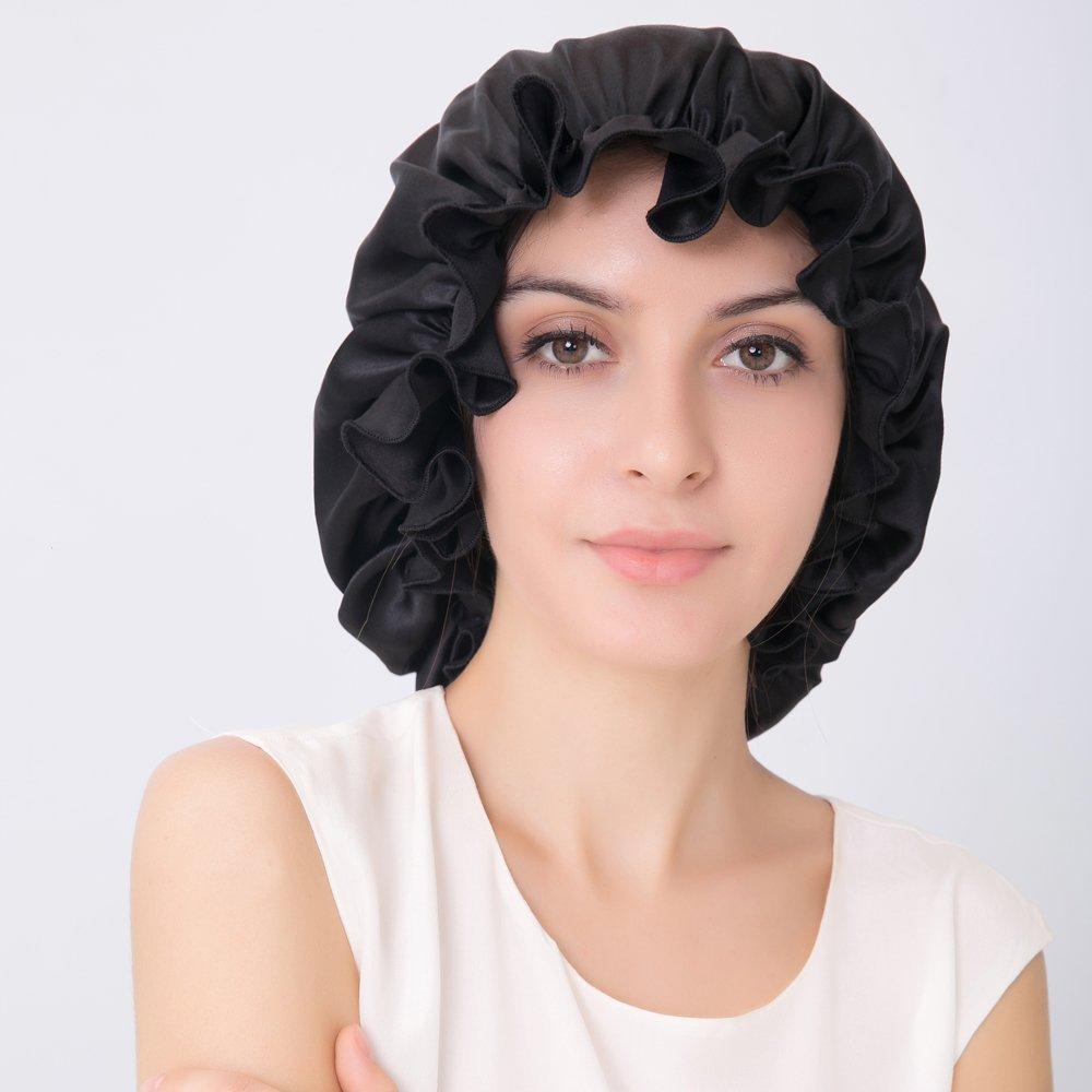 Amazon.com   ALASKA BEAR - Natural Silk Sleep Night Cap Head Cover Bonnet  for Hair Beauty 7874ad618f82