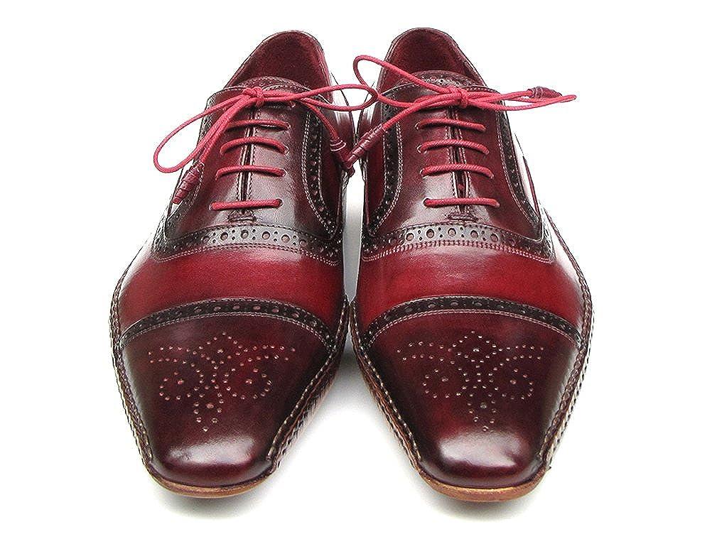 Paul Parkman Herren Seite handgenähte Captoe Oxford Oxford Oxford – Rot Bordeaux Leder Obermaterial und Leder Sohle (ID   5032) 094154