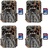 Browning Trail Cameras Spec Ops FHD Extreme 20MP Game Camera, 4 Pack + SD Cards