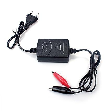 Cargador inteligente 1300mA para batería de plomo de 12V (SLA), con protección contra sobrecarga de cortocircuito, carga constante de tres etapas de ...
