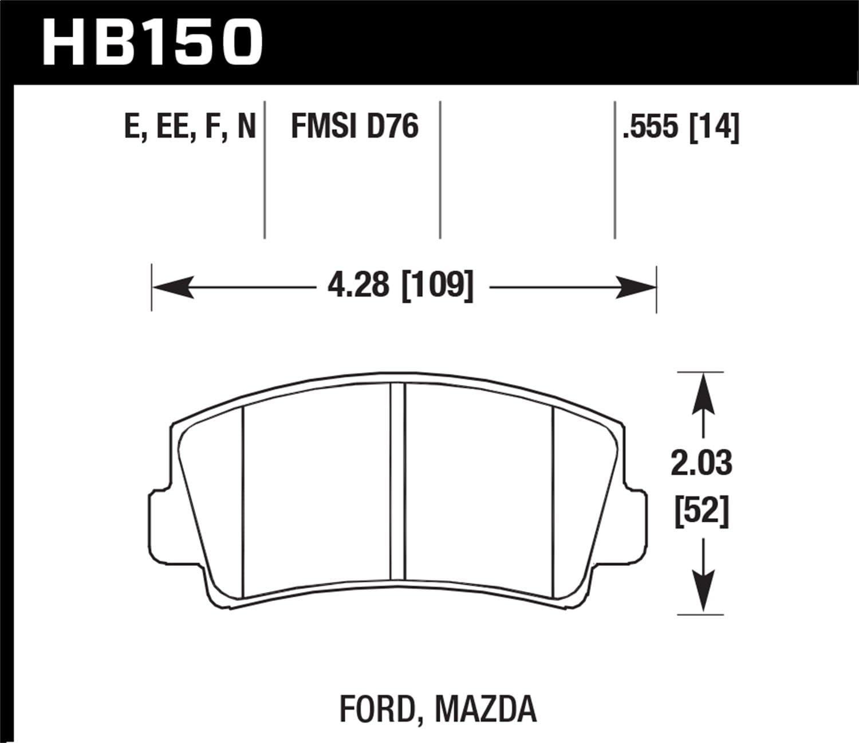 Hawk Performance HB533F.668 HPS Performance Ceramic Brake Pad