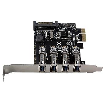 CUHAWUDBA Cuatro Puertos USB 3.0 Tarjeta de ExpansióN PCI-e ...
