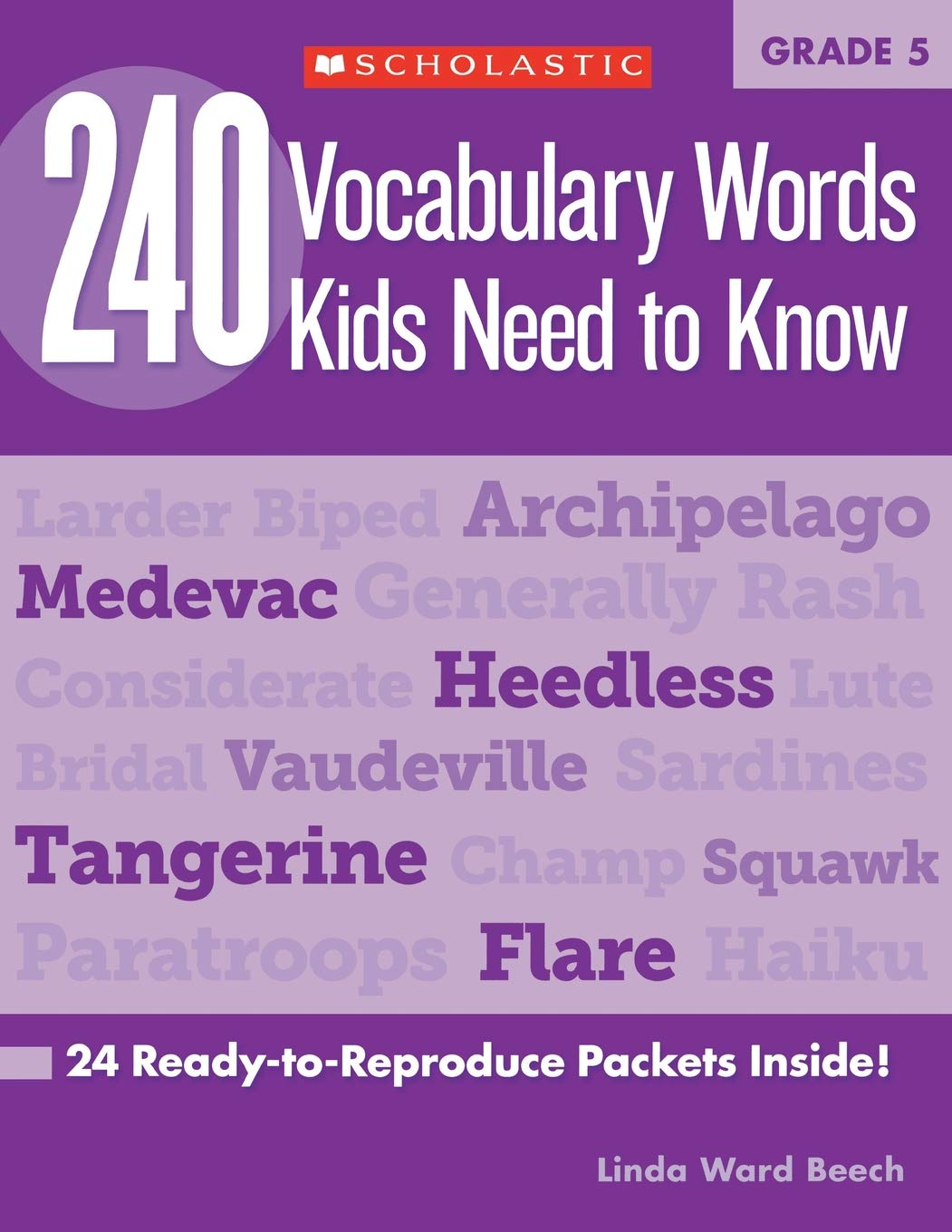 Amazon.com: 240 Vocabulary Words Kids Need to Know: Grade 5: 24  Ready-to-Reproduce Packets Inside! (9780545468657): Linda Beech: Books