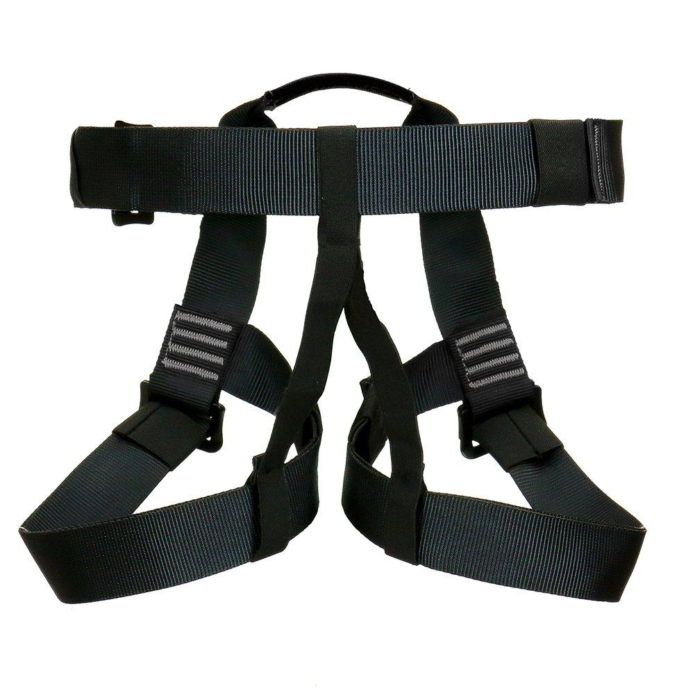 One Size Fusion Climb TCH-107-2139-3-BLKGRY Full Body Climbing Harness Black Gray