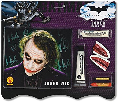 Deluxe Joker Wig & Make-Up Kit Costume Accessory - Joker Wig & Makeup Kit