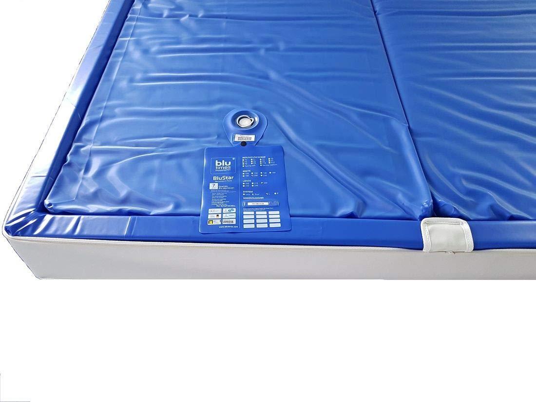 BluTimes BluStar Wasserkerne Softside UNO Wasserbettmatratze verschiedenen Größen und Beruhigungsstufen, Größe:140x200, Beruhigungsstufe:BS F2 4-5 sek.
