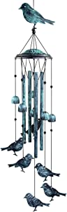YIYUN Bird Wind Chimes Outside Windchimes Large Aluminum Tubes Outdoors Wind Chimes for Patio, Garden, Porch or Indoor Decoration, Memorial Bird Wind Bells Gift