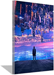 City of Dreams Canvas Art Poster and Wall Art Picture Print Modern Family Bedroom Decor (24x32inch,Unframed)