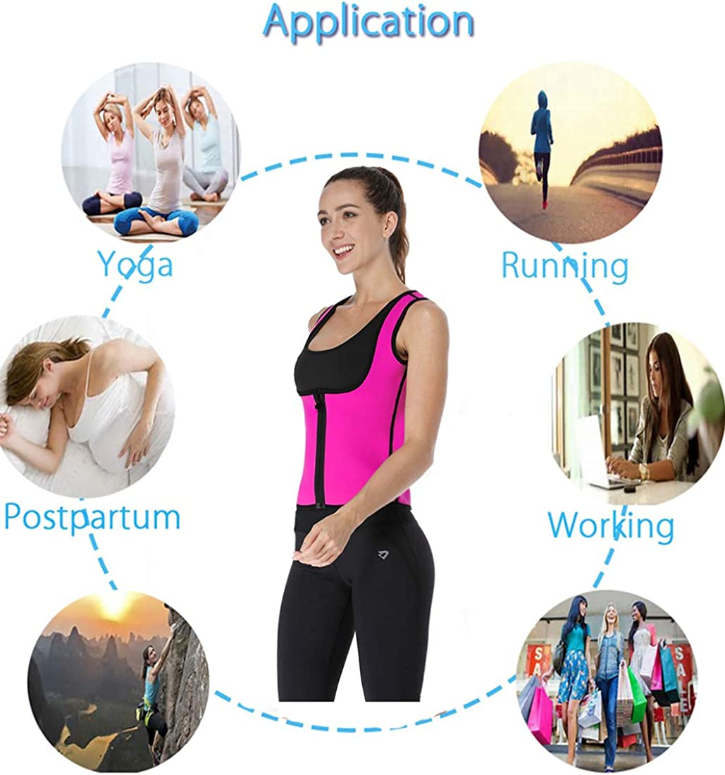Neopren Abnehmen Weste Hot Body Shaper Sauna Schwei/ß passt Gewicht Verlust Taille Trainer