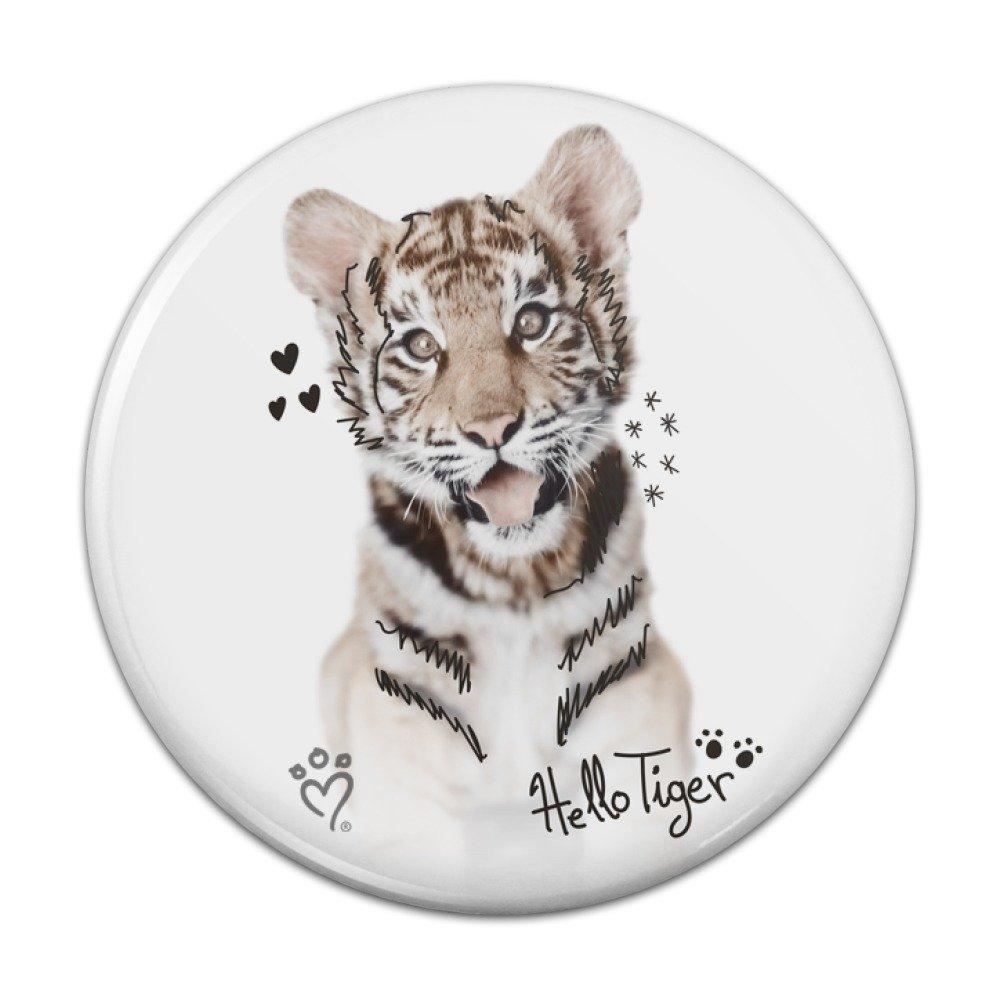 Hello Tiger Cub Jungle Kitten - Imán para nevera de cocina, diseño ...