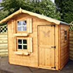 7ft x 5ft Wooden Snowdrop Playhouse -...