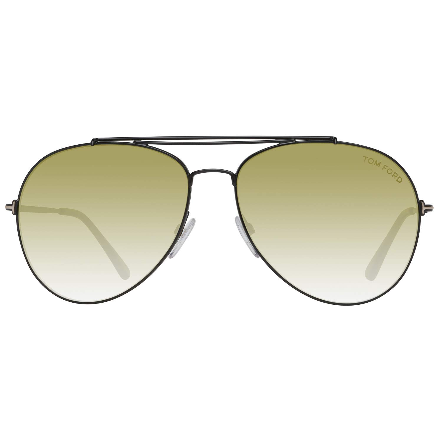 f746612a83 Sunglasses Tom Ford FT 0497 Indiana 01N shiny black   green at Amazon Men s  Clothing store