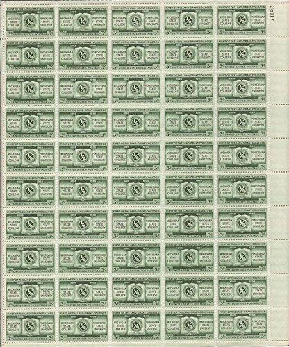 US Stamp - 1955 Land Grant Colleges - 50 Stamp Sheet - - 1065 Us