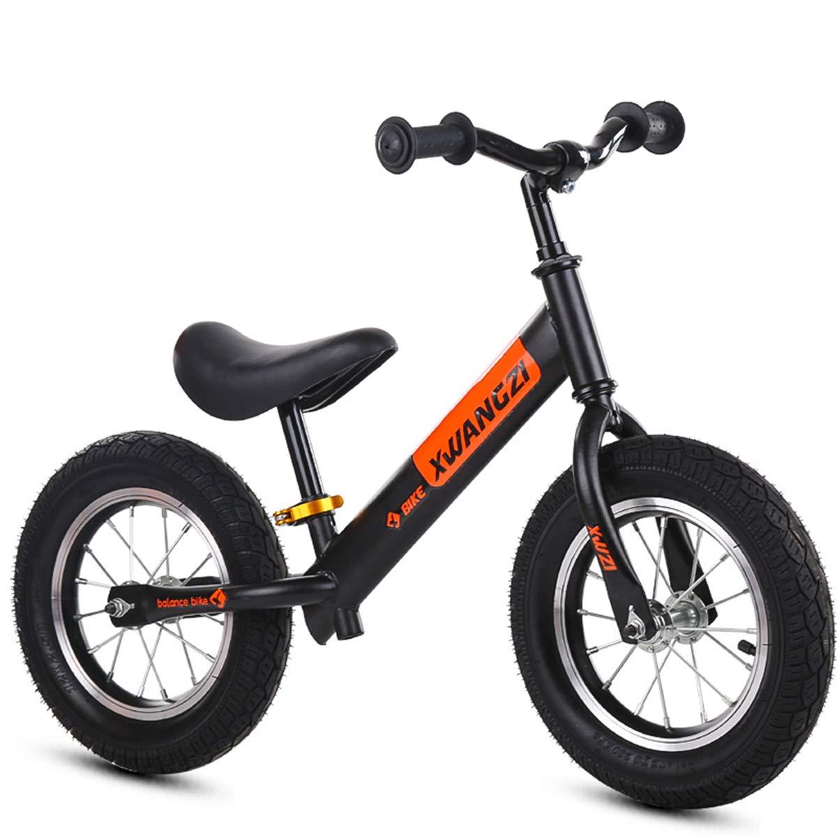 noir OneTaille YLET Vélo d'équilibre pour garçons et Filles, Vélo d'entraîneHommest léger sans pédale, Vélo d'équilibre réglable avec Cadre en Acier au voiturebone pour 2,3,4,5,6, Brake bleu-One