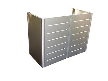 Gero Metall Mulltonnen Sichtschutz Corso Line Fur Zwei 240 Liter
