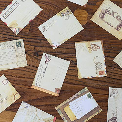 style europ/éen) 7.2 X 9.5cm 2.8 X 3.8 Yeelan 60pcs r/étro enveloppe vintage carte papier cadeau de poche pour No/ël//Action de gr/âces//Mariage//F/ête danniversaire etc(Mini taille