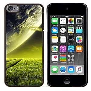 """Planetar® ( Extranjero de espacio Planet Green Grass Arte Cosmos"""" ) iPod Touch 6 Fundas Cover Cubre Hard Case Cover"""