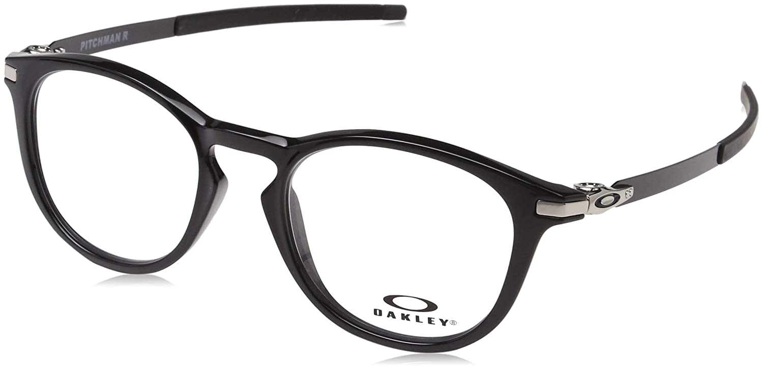 1a507464b2 Amazon.com  OAKLEY 0OX8105 - 810506 Eyeglasses POLISHED BLACK 50mm  Clothing