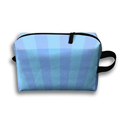 GNMB Blue Ocean Portable Travel Home Lingerie Bra Cosmetic Make-up Storage Bag Handbag