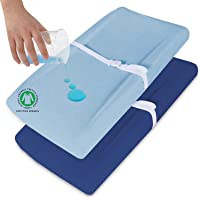 Biloban Changing Pad Cover 2 Pack Diaper, Waterproof Change Pad Cover Set Ultra Soft 100% Organic Cotton for Baby…