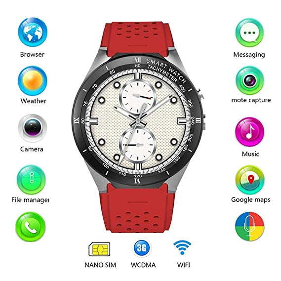 Amazon.com: Tomorrow Sun Shine 3G Smart Watch Android 7.0 ...
