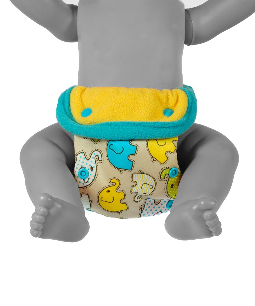 Waterproof EC Nappy Turquoise Birds Made in Europe Reusable /& Washable Petit Lulu Minimal Nappy Cover