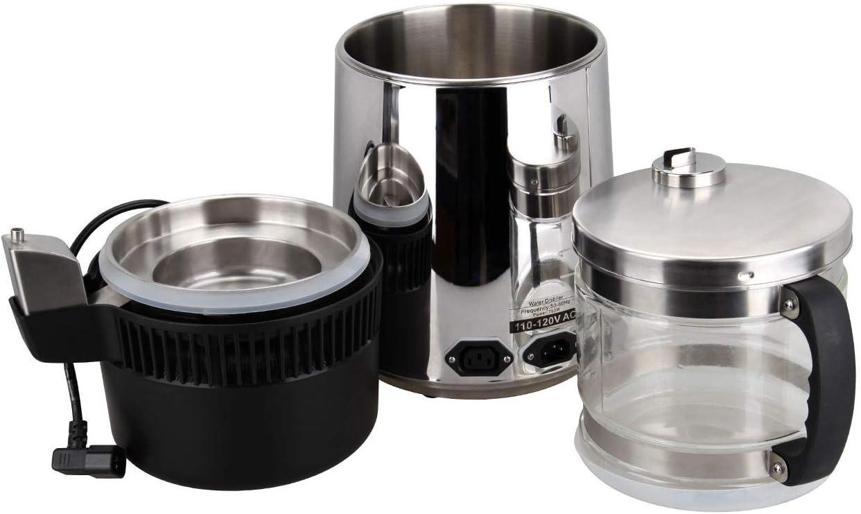 Samger 750W Pure Destilador de Agua Máquina Acero Inoxidable Purificador de Agua con Vaso Contenedor 4L: Amazon.es: Hogar