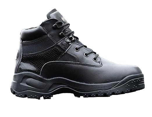 WZG Bottes homme américains des forces spéciales bottes tactiques bas aide à glissière combat bottes d'escalade en plein air chaussures , black , 43