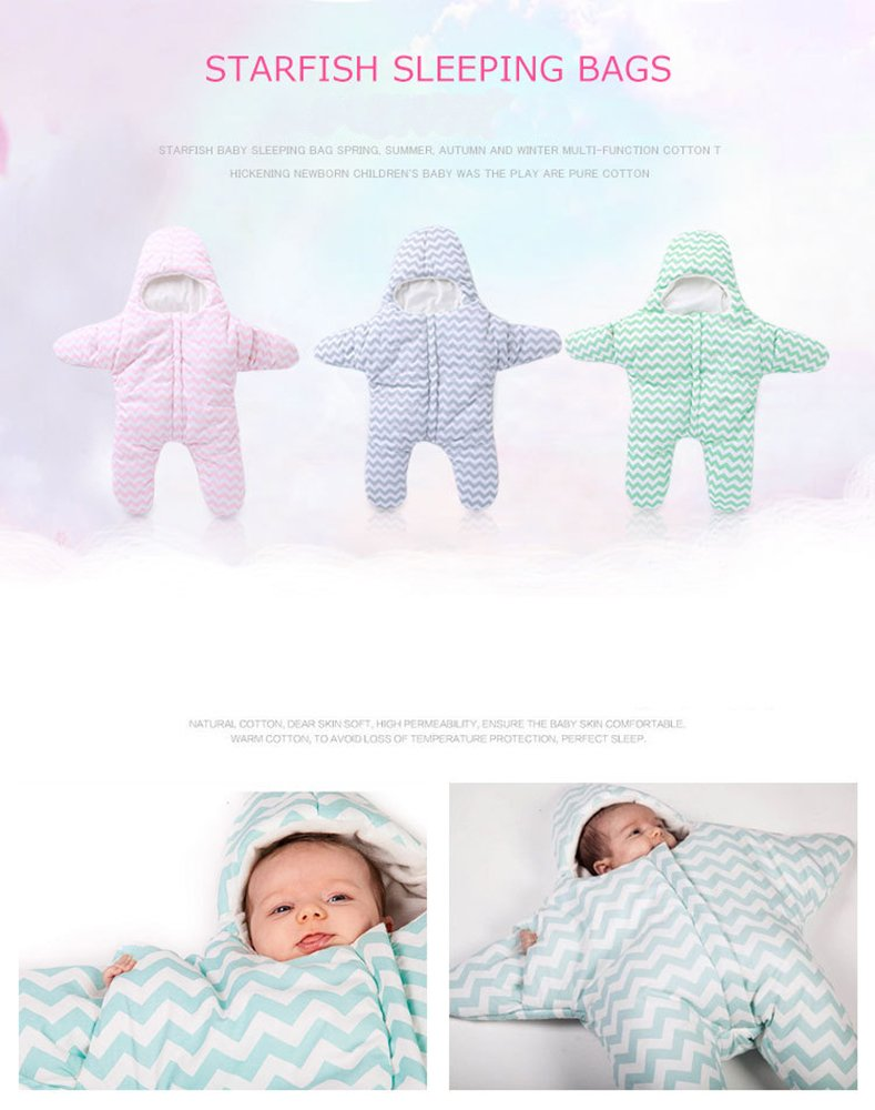Amazon Cute Starfish Baby Sleeping Bag For 0 1 Year Green Baby