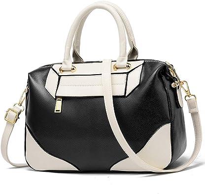 Ladies Faux Leather Shoulder Tote Handbag Top Handle